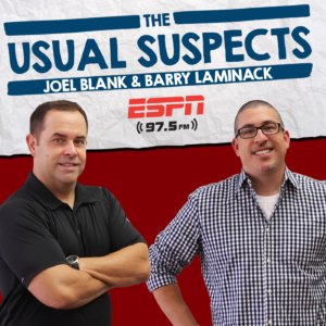 #WaybackWednesday with the Suspects starts now!   Watch: http://espn975.com   Listen: http://player.listenlive.co/47161   @PackManJoel @BarryIsFunny @TheProducerNick @espn975