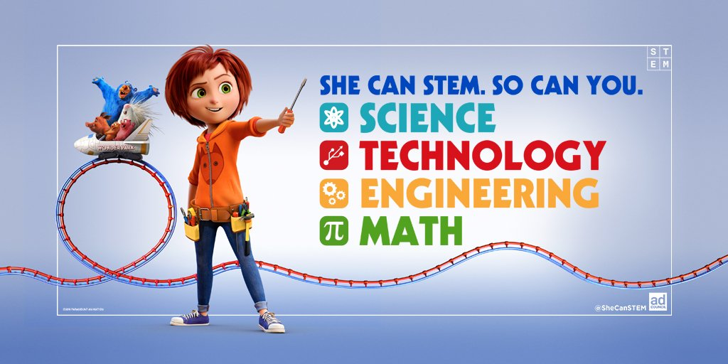 Have any of the girls in your life dreamed of building a #WonderPark of their own? If they stick with STEM, becoming a theme park engineer is well within their reach. @WonderParkMovie #SheCanSTEM