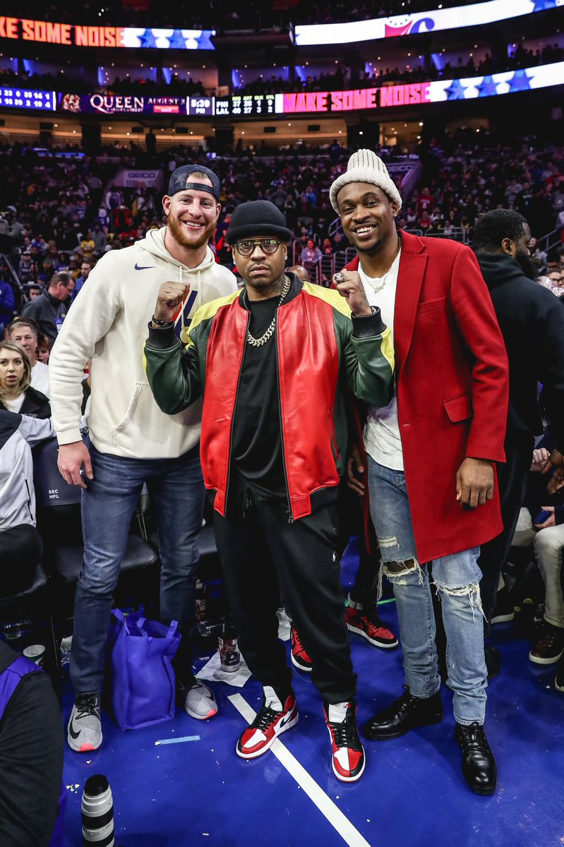 Grew up watching this guy tear up the league and even made some homemade cards of him that I just recently found! Pretty dang cool!  Was a pleasure kicking it with @alleniverson and my guy @TheWorldof_AJ ... @sixers are NICE too by the way 😏