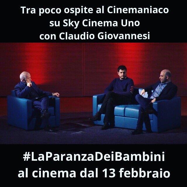 Tra poco ospite al #Cinemaniaco su Sky Cinema Uno con Claudio Giovannesi.   #LaParanzaDeiBambini al cinema dal 13 febbraio.