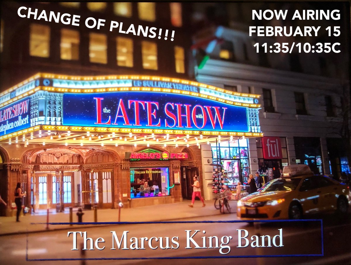 CHANGE OF PLANS. Our @colbertlateshow performance will now air THIS FRIDAY, the perfect way to roll into your weekend! Sorry to make yall wait, but it will be worth it!