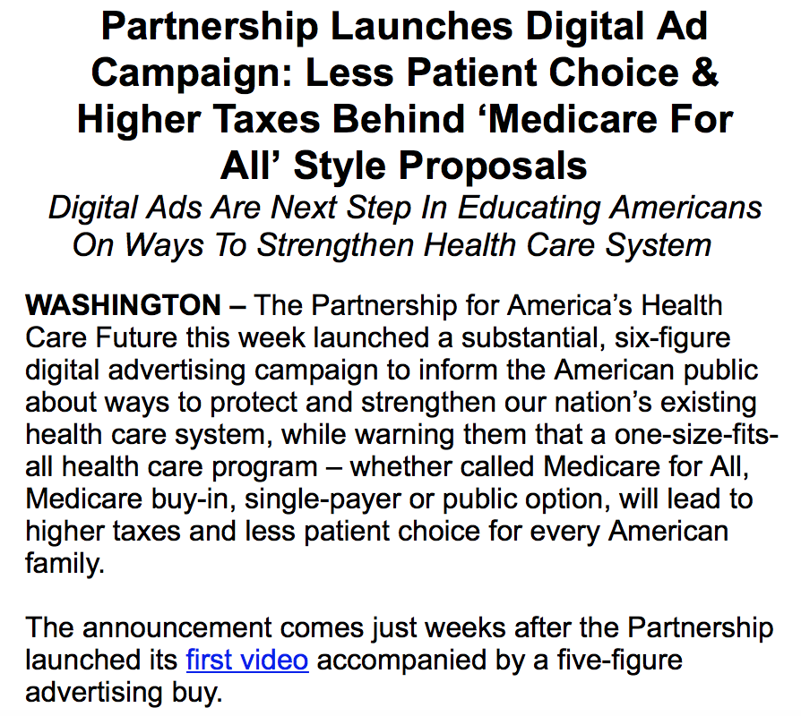Here's why there have been so many @P4AHCF ads on Facebook and elsewhere: They've just launched a six-figure digital ad campaign.