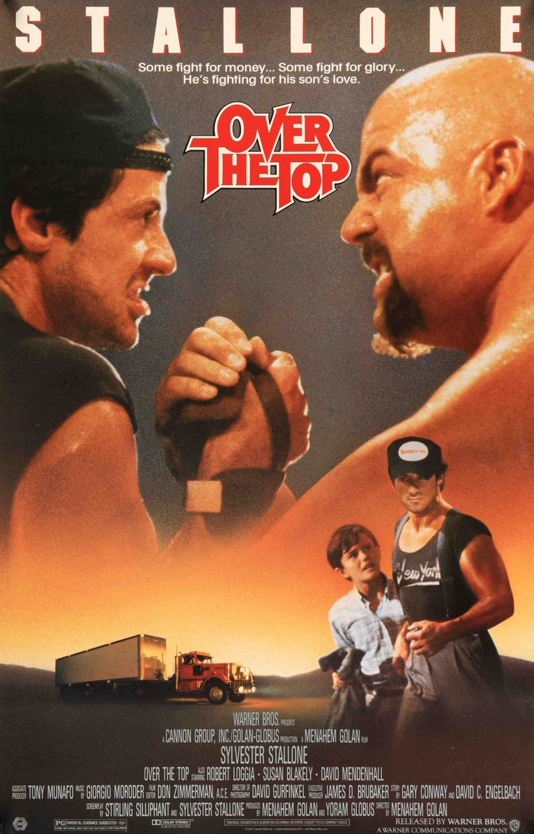 &quot;Over the Top&quot; starring Sylvester Stallone came out in theatres today in 1987. Stallone plays a long-haul truck driver who tries to win back his alienated son while becoming a champion arm wrestler. #80s #armwrestling<br>http://pic.twitter.com/kn1RpytNBj