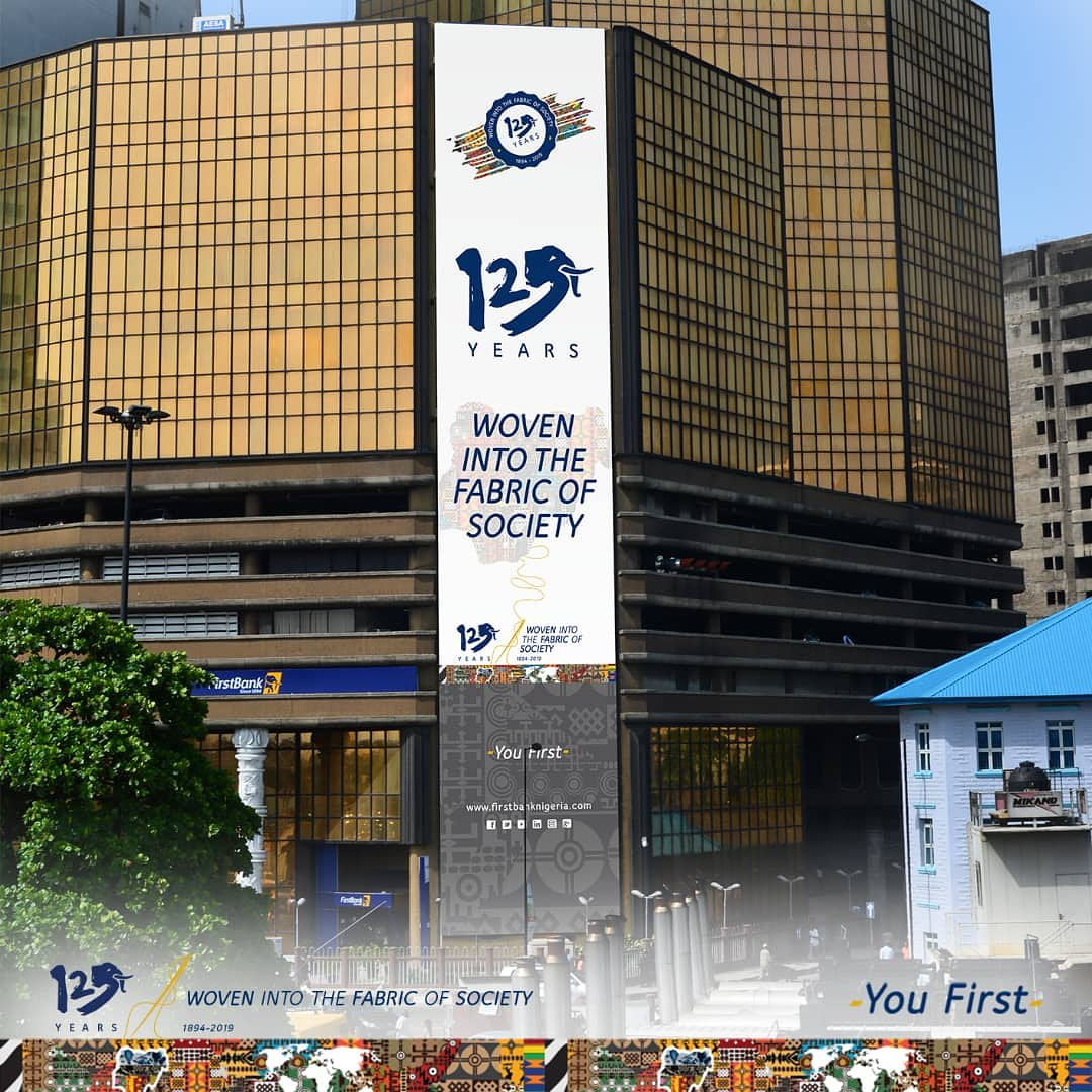 Come March 31, we will be 125years.  The only Nigerian institution that has been around that long.  Our story is the story of the Nigerian people. We are you!  Join us as we celebrate.  #125Strong #FirstBankAt125 #WovenIntotheFabricofSociety #YouFirst
