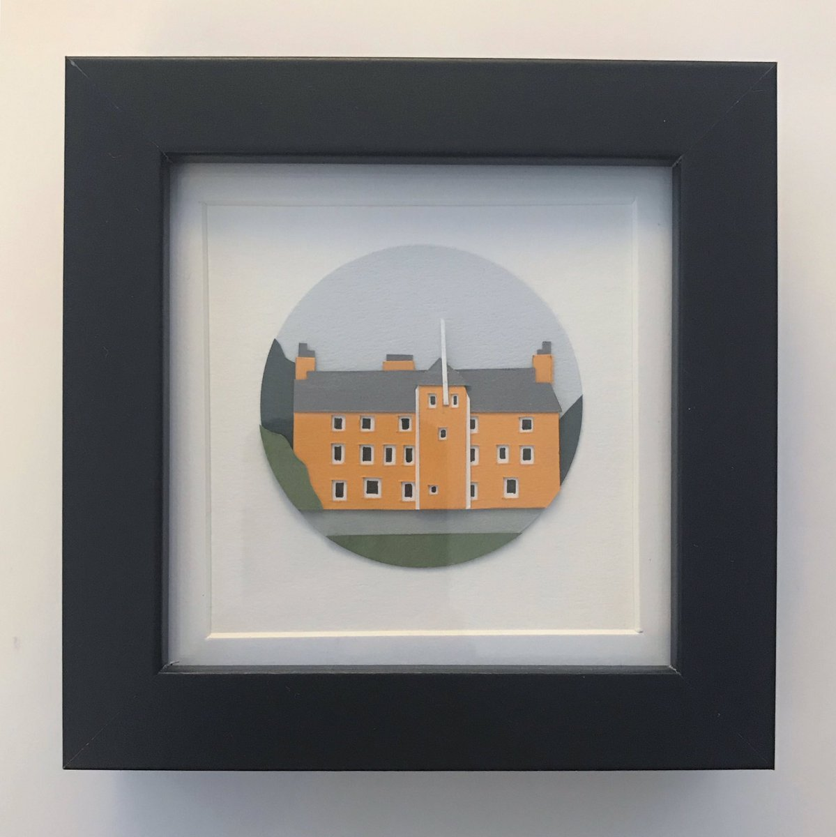 Another recent landscape miniature make : Pittencrief House - I love a visit to the glen !! #artist #design #handmadehour #paperart #papercraft #paperartist #papercut #landscape #architecture #etsy #etsyseller #miniatures #sale