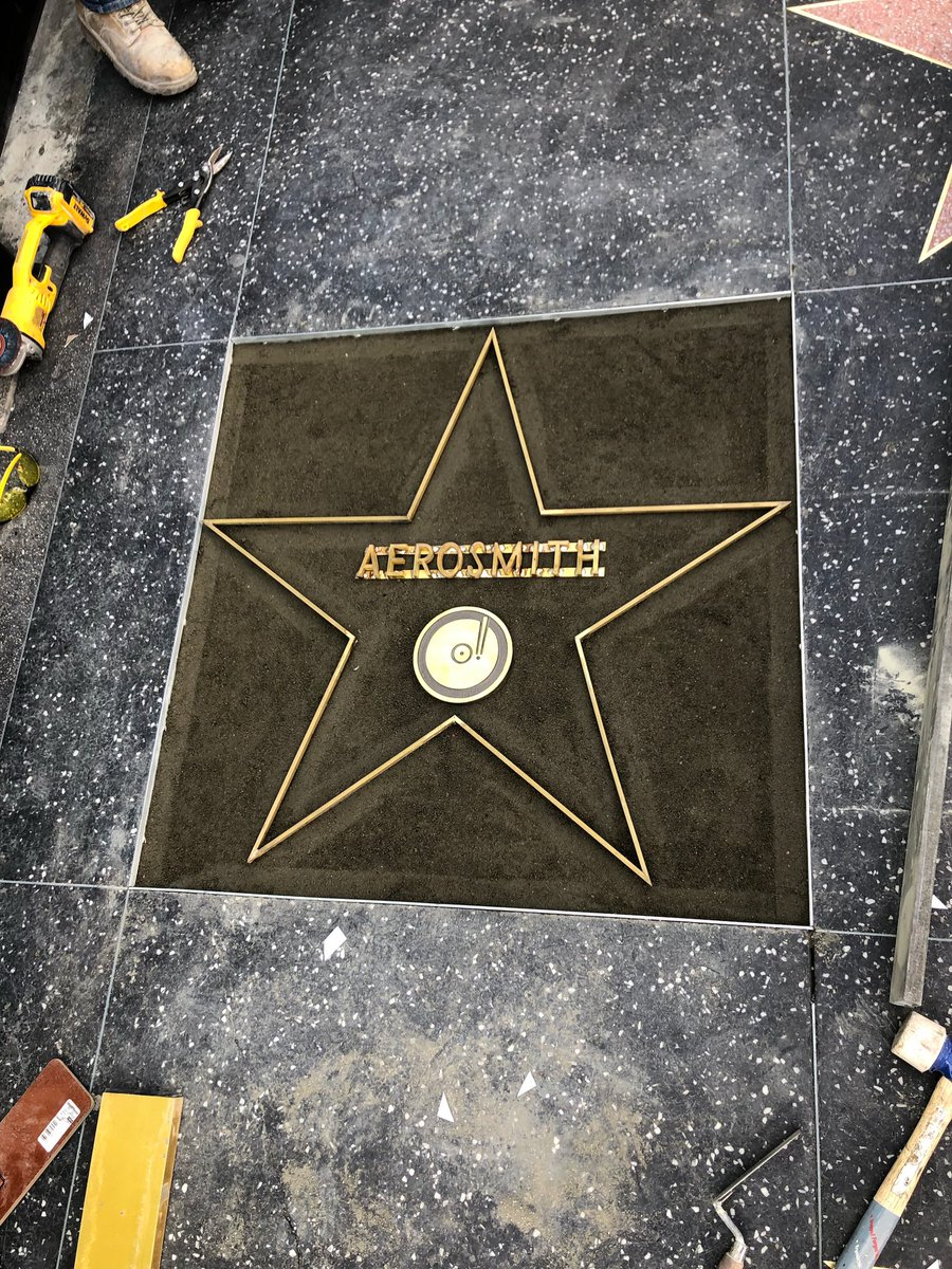 Walk this way! Aerosmith gets a star on the Hollywood Walk of Fame! Located at 6752 Hollywood Boulevard in front of Musicians Institute. The #Aerosmith #WalkOfFame Ceremonies start Thursday, February 14, at 11:30 a.m. PST. 🤘🏼⭐️🤘🏼
