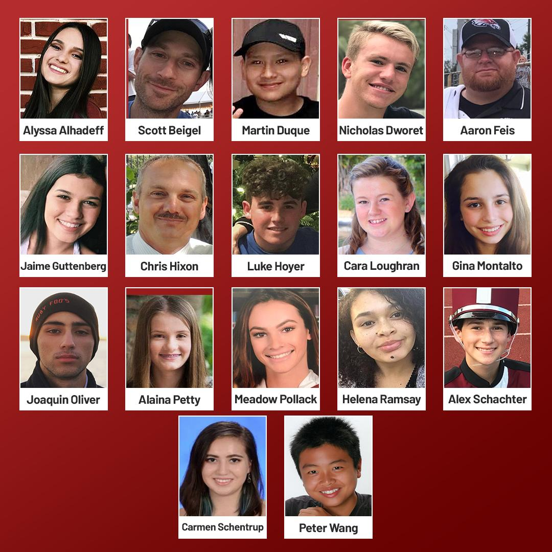 On February 14th, 2018 the Parkland community lost 17 lives in a tragic and preventable act of gun violence. Everything we have done and everything we will do is for them. #MSDStrong