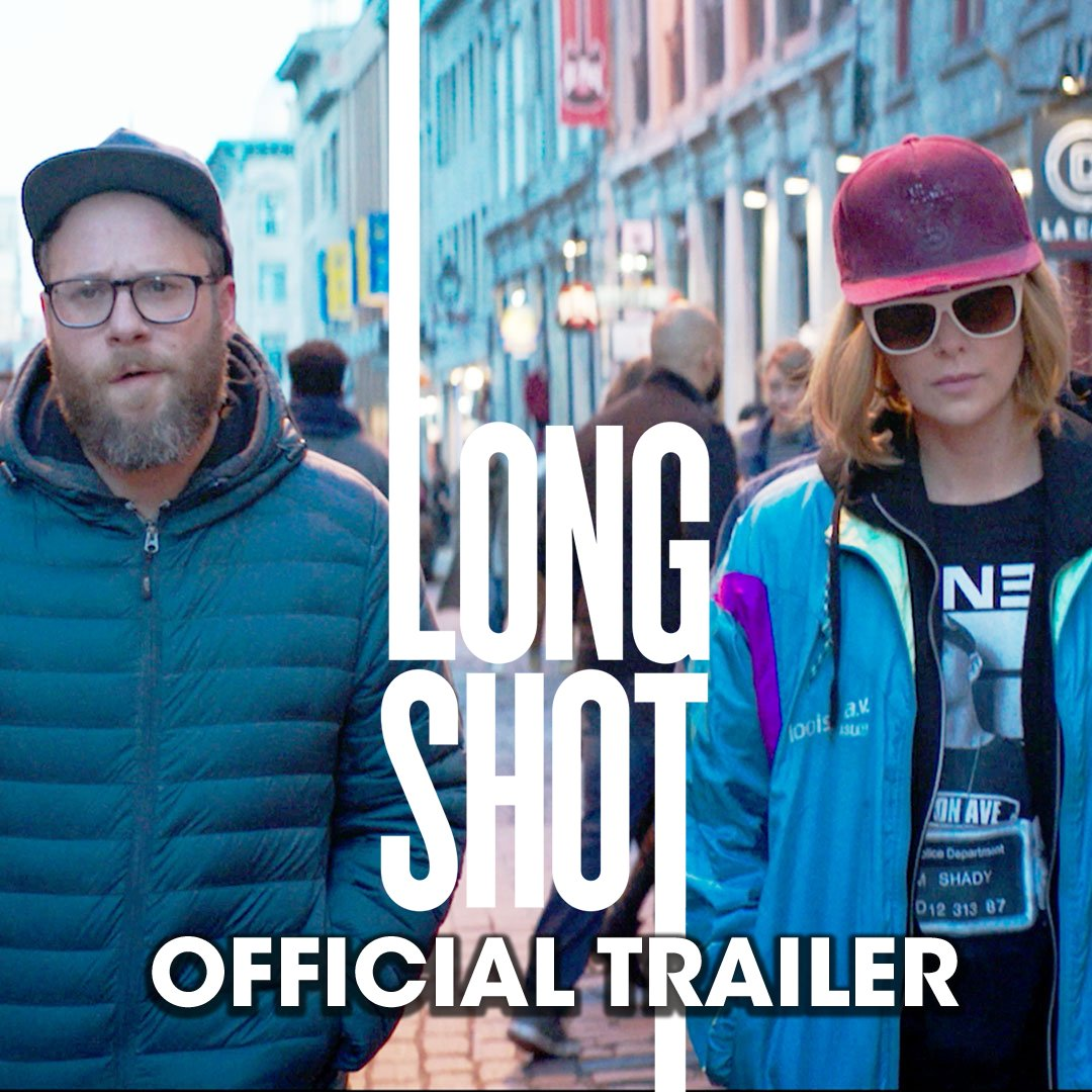 Here's the trailer for LONG SHOT starring me, @CharlizeAfrica and BoyzIIMen: