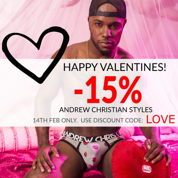 UK'S LARGEST RANGE OF AC WITH PRICE GUARANTEE + FREE DELIVERY! -  https://mailchi.mp/vocla/new-andrew-christian-styles-15-off-valentines-day  … ...