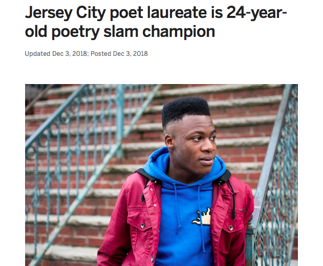 When I think of how bright our future is, I think of people like Rashad Wright and his artistic gifts. Well known for his talent in spoken word.  At the age of 24 he was selected as Jersey City's poet laureate. Celebrating him this #BlackHistoryMonth!