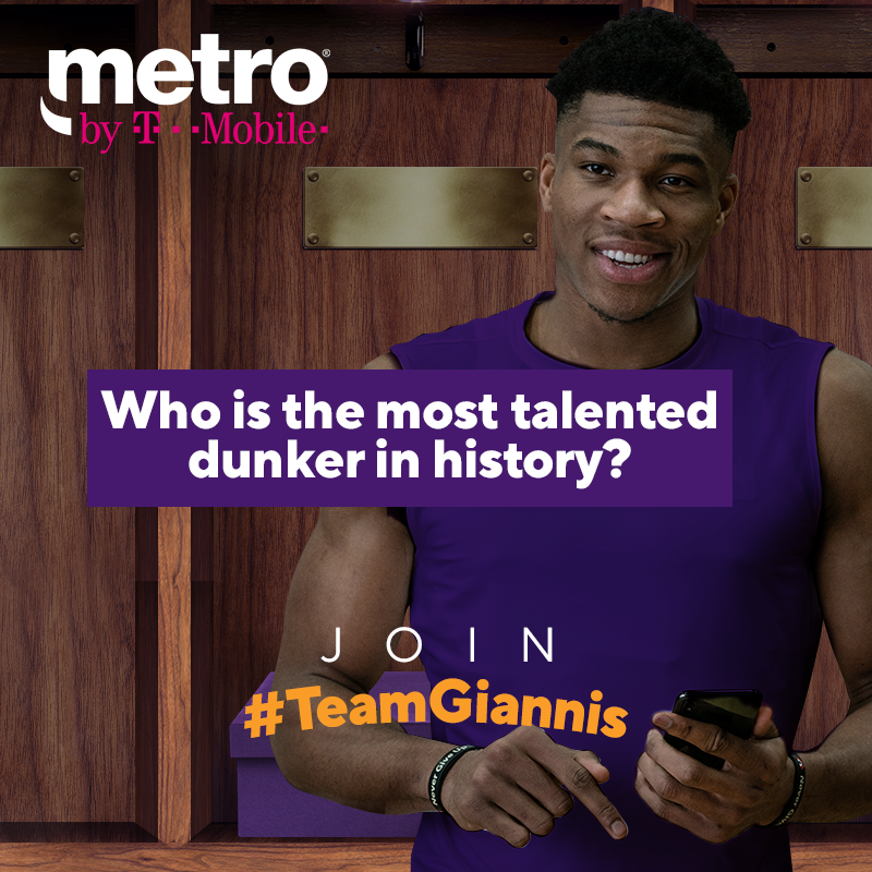 Who is the most talented dunker in history? Comment and tell us using #TeamGiannis for a chance to win a prize pack complete with custom sneakers.