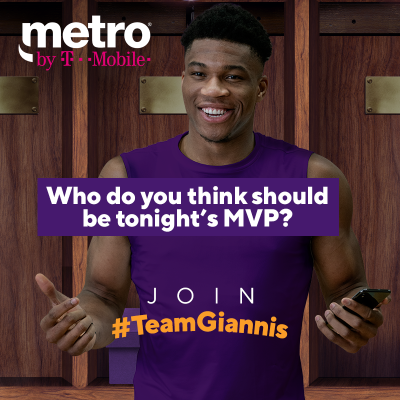 Who do you think should be tonight's #MVP? Comment and tell us below using #TeamGiannis for your chance to win a custom pair of sneakers, shirt and hat!