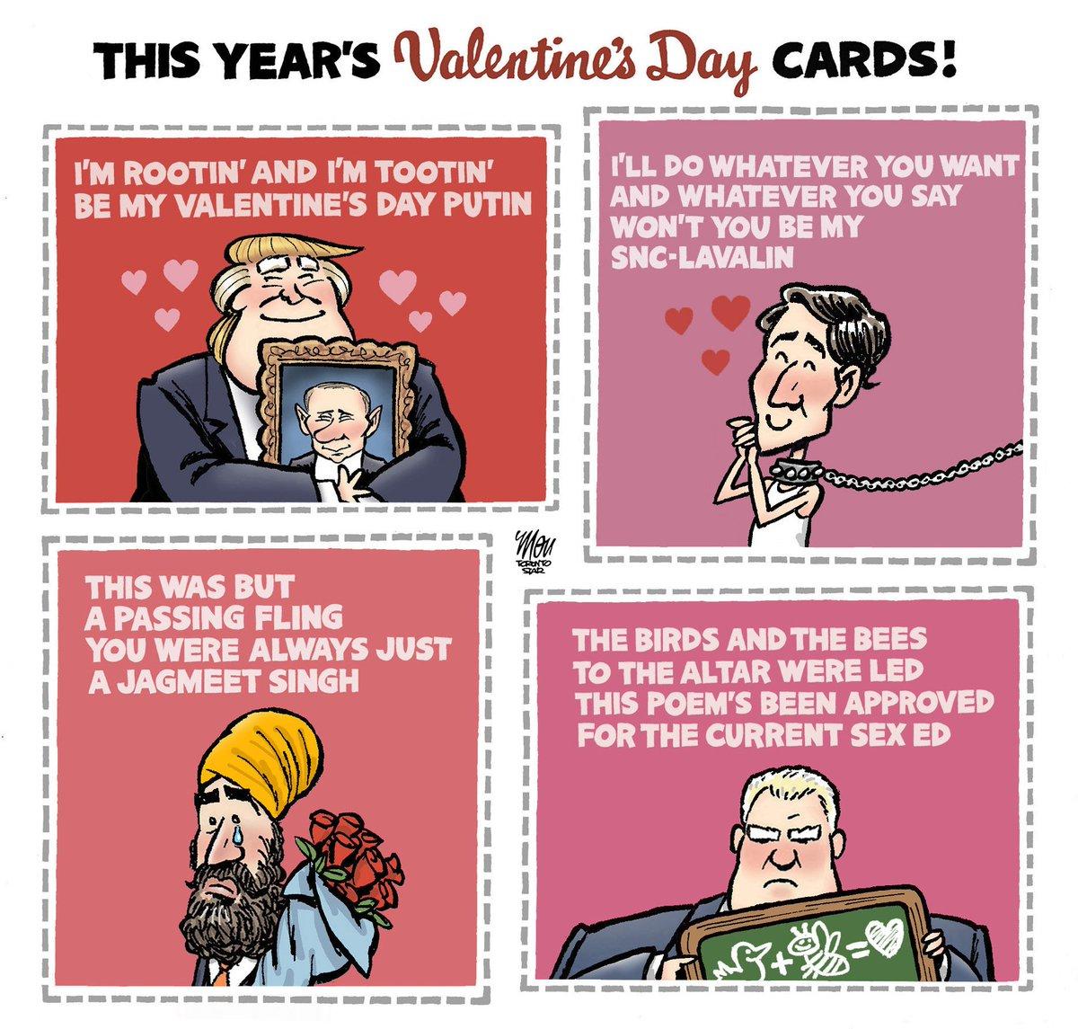 Here's Thursday's #ValentinesDay cartoon in @TorontoStar