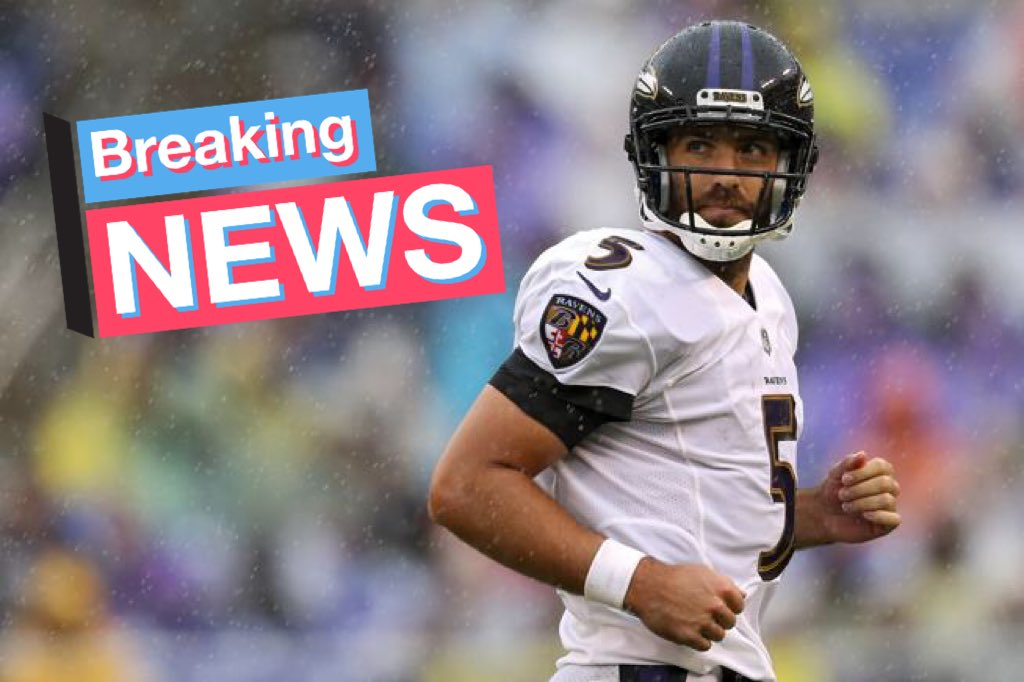 BREAKING   Joe Flacco is now a Bronco.  NFL  JoeFlacco  BroncosCountry   DenverBroncos pic.twitter.com fW2KbSP0LD e534712ac