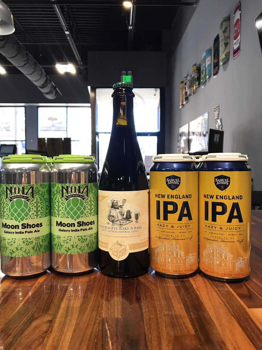 New products on the shelf! @nolabrewing @greatraft_southla @terrapinbeerco @samueladamsbeer  #12packs #cbcnola #magazinestreet #cbcdeliveryday #neworleanscraftbeer #craftbeercellarneworleans #moonshoes #nola