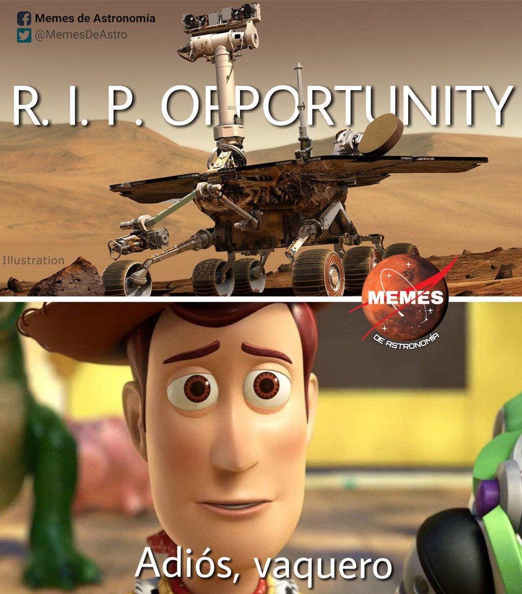 Hace 8 meses que el Rover Opportunity cerró por última vez sus ojitos y entró en un sueño profundo del que nadie lo pudo despertar. Gracias por tanto. :') #ThanksOppy
