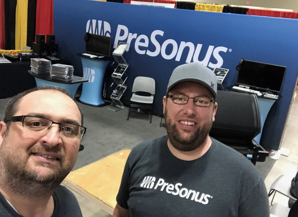 Headed to TMEA? Evan and Richard have Booth #410 ready for you to visit starting tomorrow! #TMEA2019 #MusicEducation #presonus