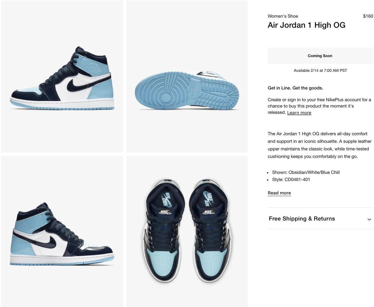Sole Links On Twitter Ad Coming Soon Via Nike Us Women S Air Jordan 1 Retro High Og Blue Chill Https T Co Sp58zxxo9e