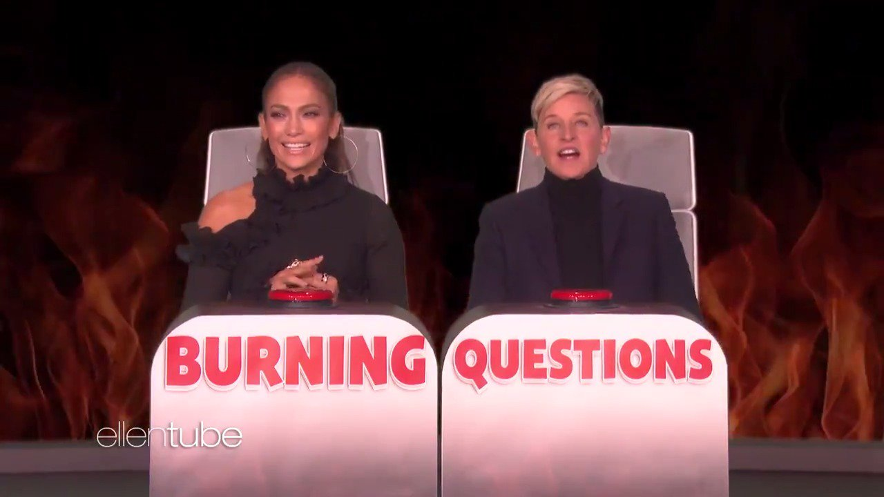 I played #BurningQuestions with @JLo, and it turns out she loves @arod's big… shoulders. https://t.co/aUGndJcm9N