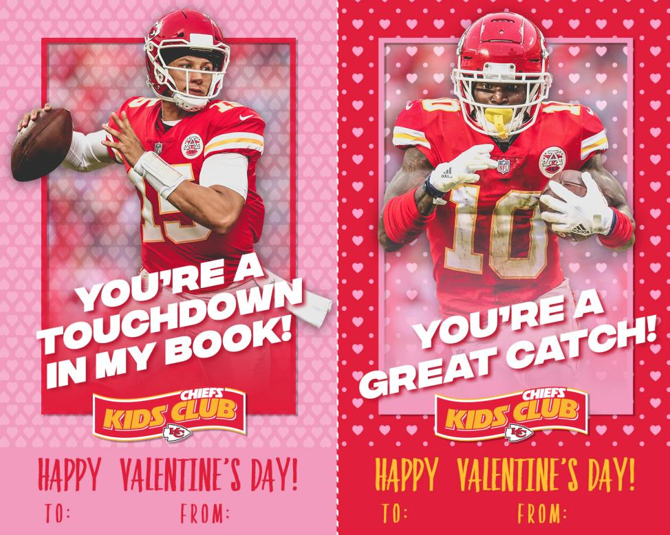 Do your kids still need to pick up some Valentine's Day cards to bring to school tomorrow? The Chiefs Kids Club has them covered.  Check out even more cards by clicking here ➡️ https://chfs.me/2Ibd8lh