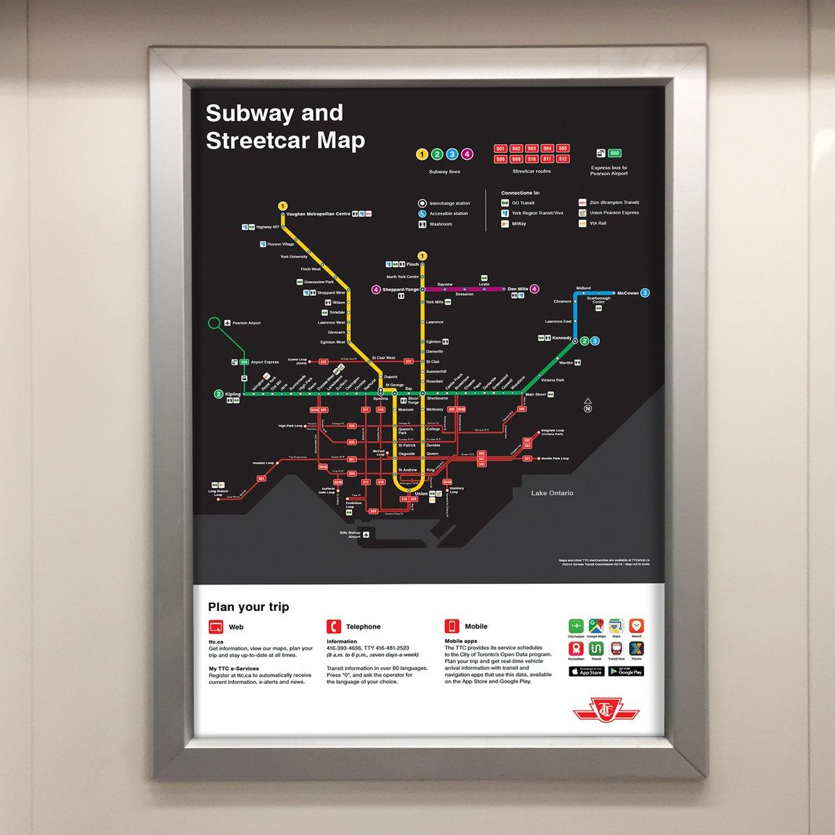 Toronto Subway Map App.Ttc Customer Service On Twitter Starting This Week You May Notice
