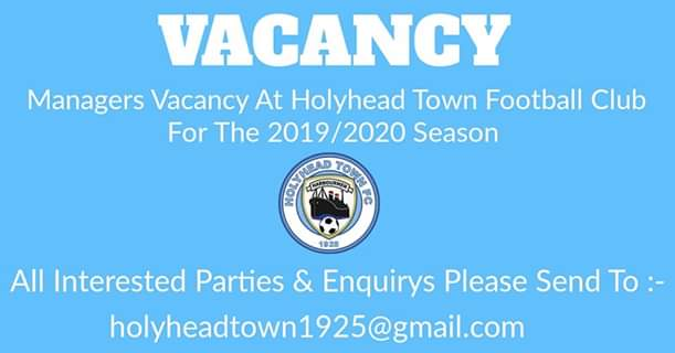 Exciting opportunity to join a successful and stable football club. @AngleseyScMedia @NorthWalesChron @DaveJDailyPost @MonFMRadio
