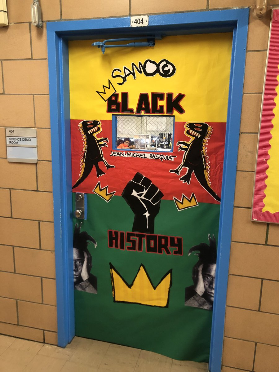 Check out our #blackhistorymonth door decor Thanks to the amazing #students & Teaching fellows we have from @citizenschools 💙💚🧡 #blackexcellence #blackstyle #diversity #wematter #blacklegacy #blacklegend #blackisbeautiful #blackisgold #blackislove #blackhistory https://t.co/CYMVGQtLdP