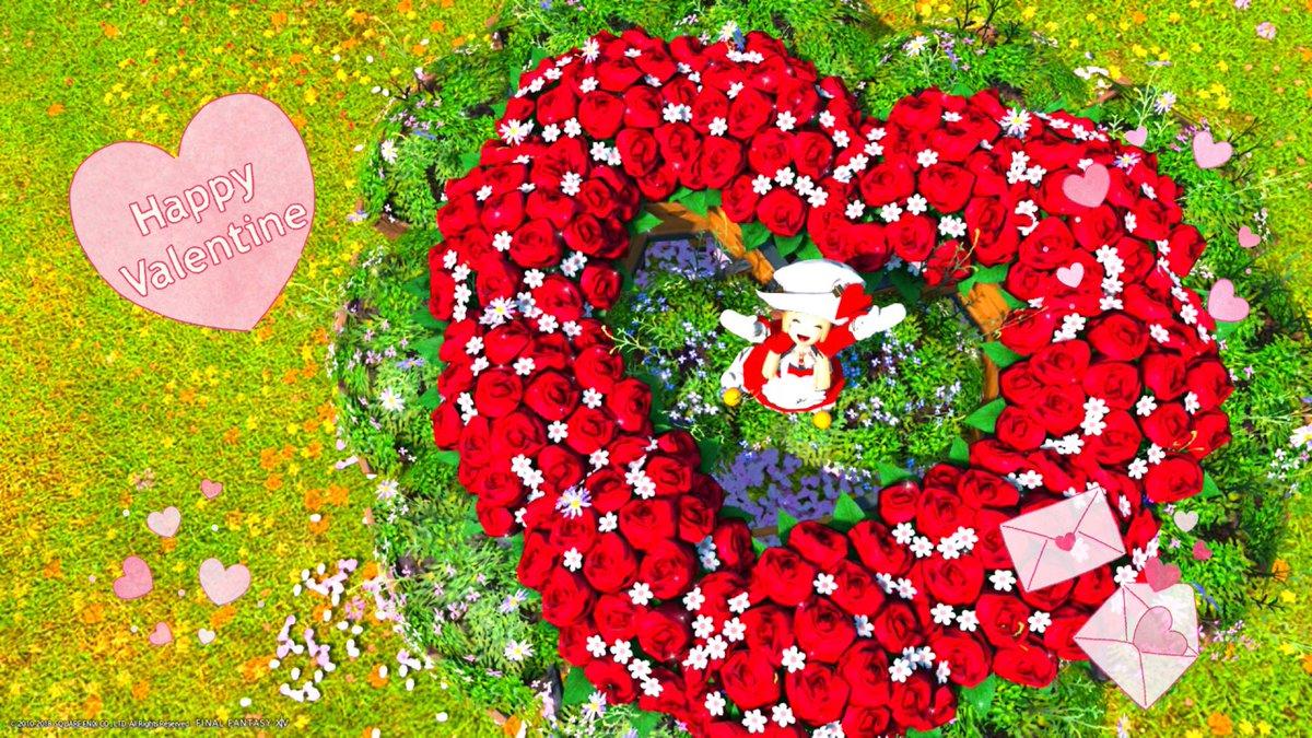 おはララ〜Valentine🍫💗 今日はバレンタイン♪  SSは過去のだけど、気持ちは伝わるはず…w  みんなにᎻᎯᏢᏢᎩ Valentine💕 #ff14 #ララフェル