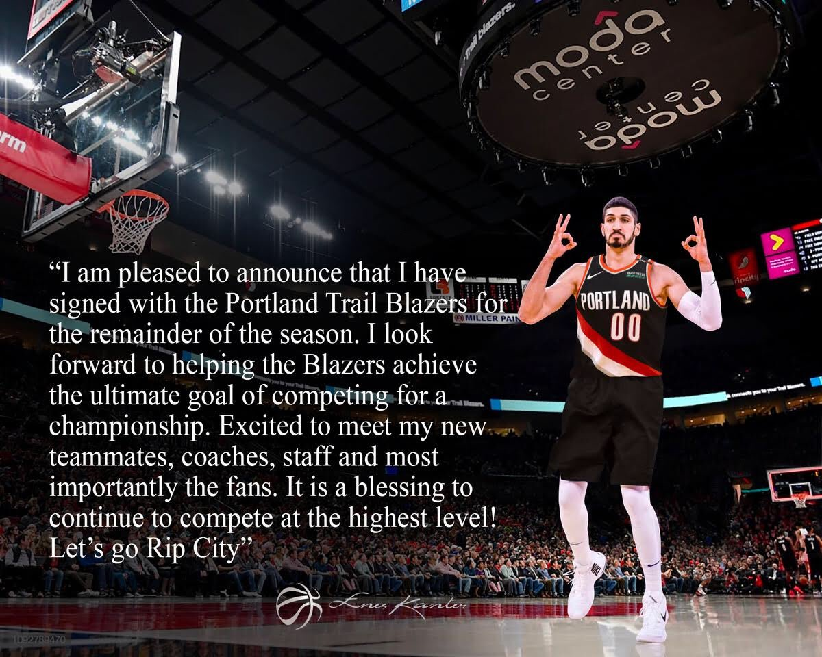 Enes Kanter's photo on #RipCity