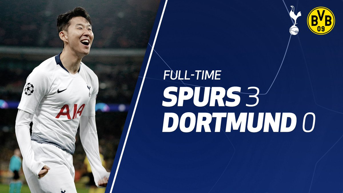 FULL-TIME: A phenomenal second-half display as we put three past Dortmund on a great night at Wembley! #COYS