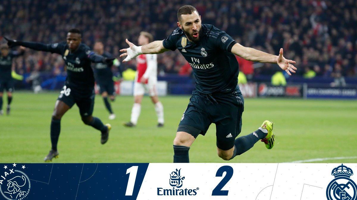 Xem lại Ajax vs Real Madrid, 3h00 ngày 14/2 (Champions League)