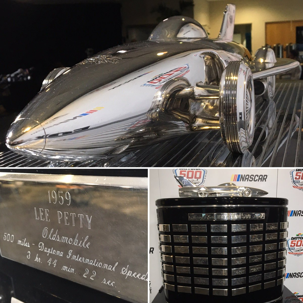 Ryan Mcgee A Twitter The Harley J Earl Trophy Stands 4x5 Feet In The Tri Oval Shape Of Daytona International Speedway Earl A Gm Designer Nascar Commissioner Designed The Corvette And The