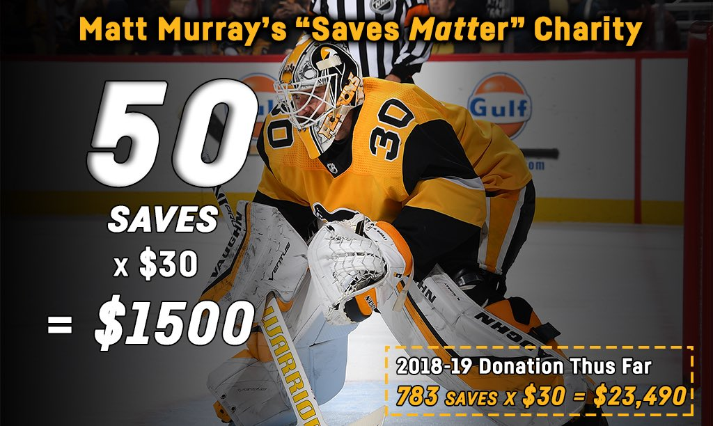 Penguins PR's photo on Matt Murray
