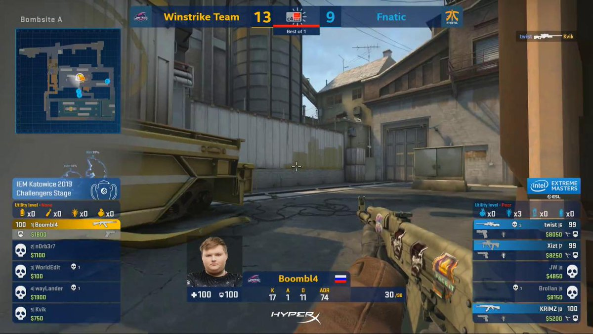 .@Boombl4CS with a HUGE clutch to take Winstrike to 14 rounds! #IEM   http://live.intelextrememasters.com