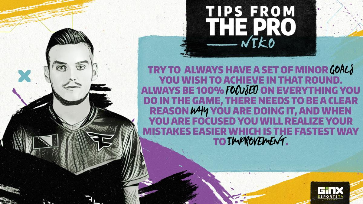 On this month's #TipsFromThePro we have non other than a #CSGO legend @fazeniko 🏆   His words are just like his one taps - on point 🎯 and when an in-game leader of @FaZeClan Clan talks, you listen! ☝