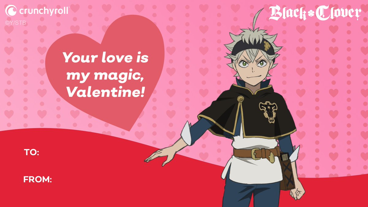 I can never love a person more than Black Clover, but that basically means we're all in a relationship right? 💝