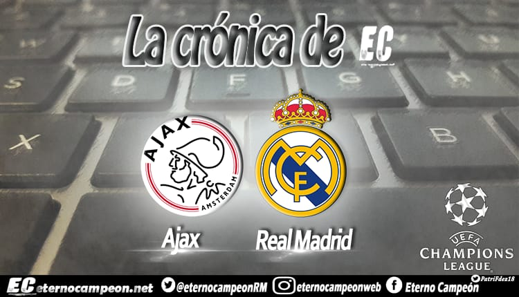 Crónica | Ajax 1-2 Real Madrid http://eternocampeon.net/cronica-ajax-1-2-real-madrid … Por: @boticario_81 Diseño: @PatriFdez18 #RMUCL #ChampionsLeague