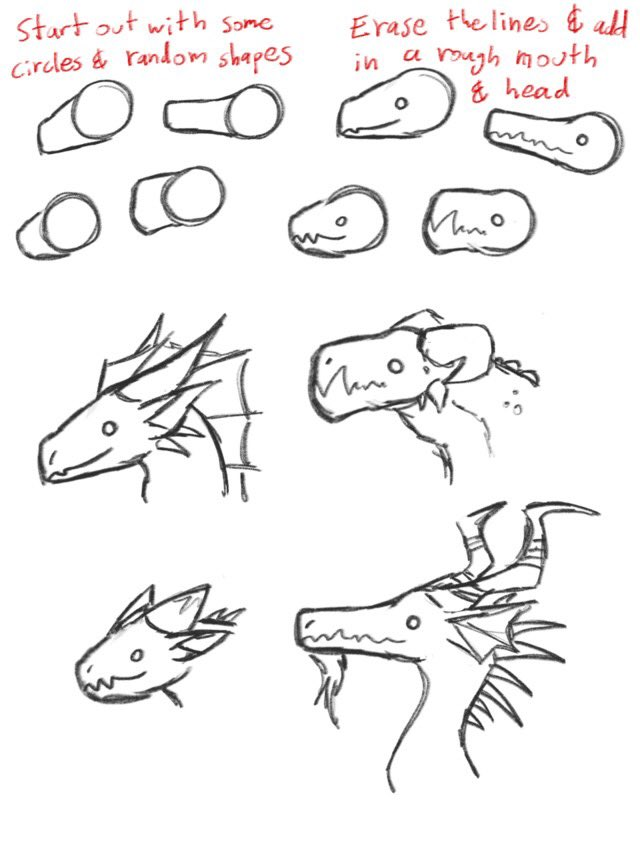 How to draw dragons tutorial by tempestleopard on tumblr!!<br>http://pic.twitter.com/k5dMbSSb5r