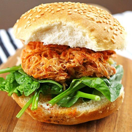 Slow Cooker Buffalo #chicken. #crockpot #foodpic http://bit.ly/2rIYhDK