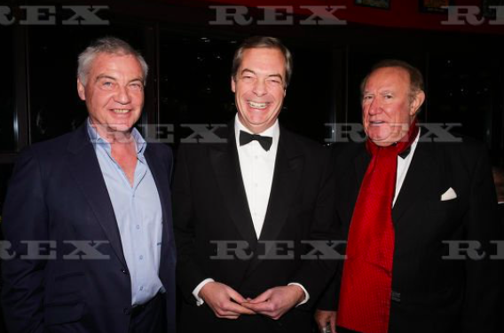 Oh @afneil, you spoil me. A new photo. With ALL the greats.  Farage of course...but meet David Burnside: ex-Ulster unionist MP. And ex-PR to ex-Cambridge Analytica shareholder, Tchenguiz. Ex-publicity fluffer for Dmitryo Firtash, Ukrainian oligarch wanted by FBI. And..drum roll..