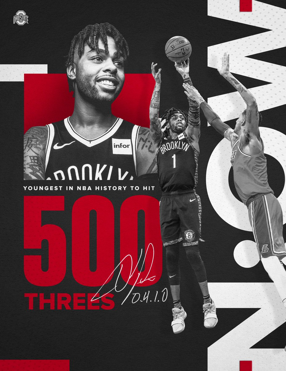 📈Leading by example❗️  Youngest to ever knock down 500 threes. Keep doing what you do @Dloading.