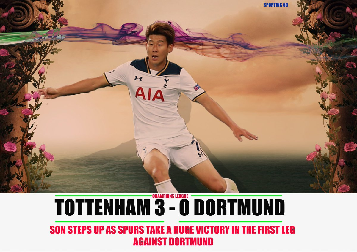 Tottenham take a decisive lead over Dortmund.Despite absence of Kane and dele alli.Dormund now have to catch up in the Second Leg of Champions League. #THFCBVB #THFC #thfc #coys #COYS #UCL #WednesdayMotivation