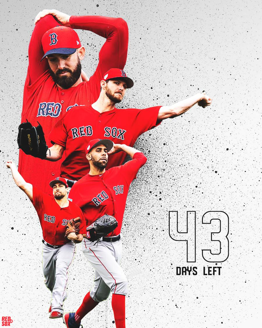 The #RedSox starters got into their #SoxSpring uniforms for workouts today and my heart skipped a beat. These guys look so focused, like last year&#39;s triumph wasn&#39;t enough. How lucky are we? Seriously. LET&#39;S GO, #REDSOXNATION! #ChrisSale @RickPorcello #NathanEovaldi @DAVIDprice24<br>http://pic.twitter.com/X9yNu9L73w