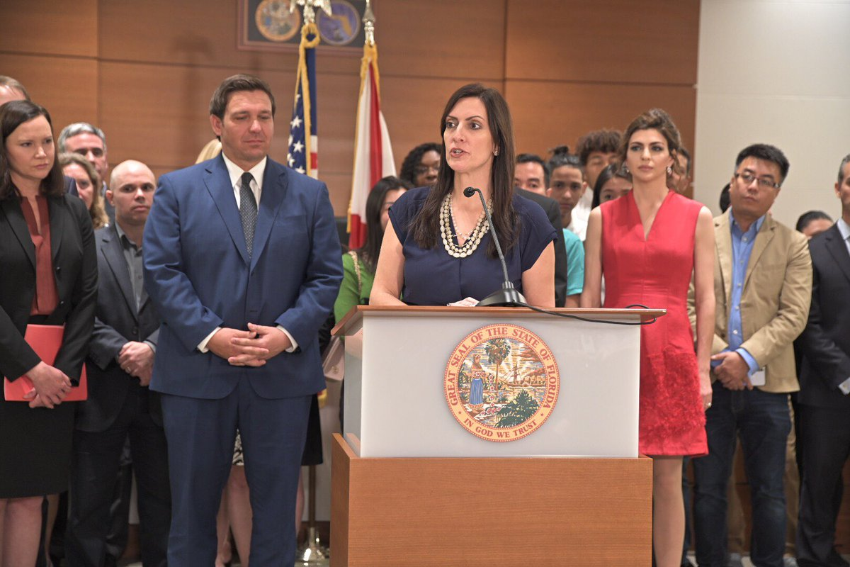 Today, in Broward County, @GovRonDeSantis and I announced our commitment to providing accountability and enhanced school safety measures throughout the 67 counties in our great state.<br>http://pic.twitter.com/ClpyVTNscZ