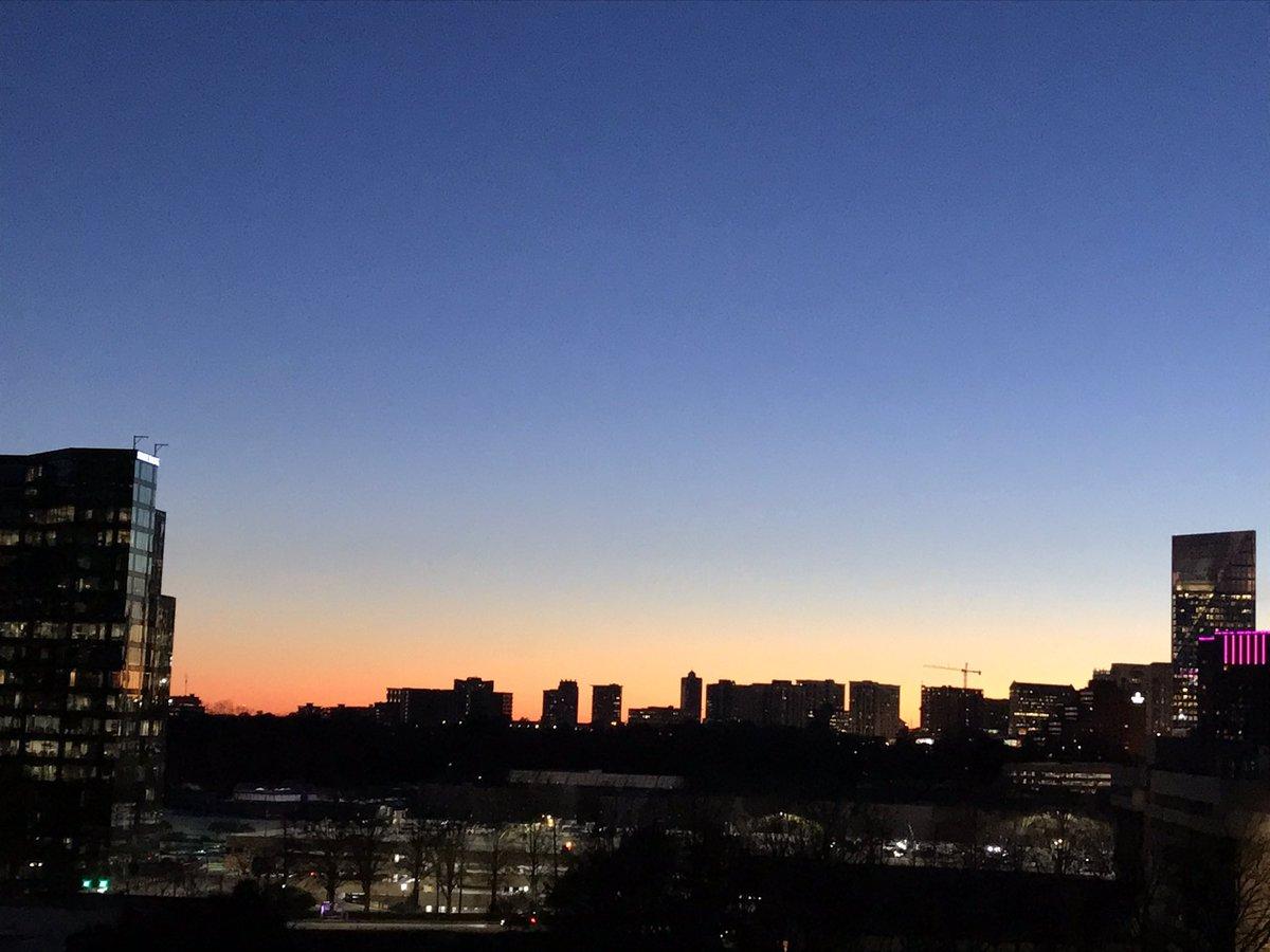 #nofilter #severeclear #sunset over #buckheadatlanta as seen from the front patio of #smilincondocommand @iBuckhead
