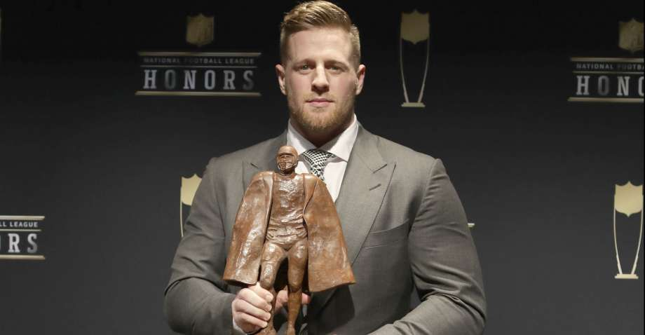 From his youth through today, JJ he lives by the #DBWH motto. Focusing on accountability, teamwork, leadership and work ethic he's had a  great year on the field and recognized off the field, by being awarded the 2017 Walter Payton NFL Man of the Year. <br>http://pic.twitter.com/GW4gVOjNUH
