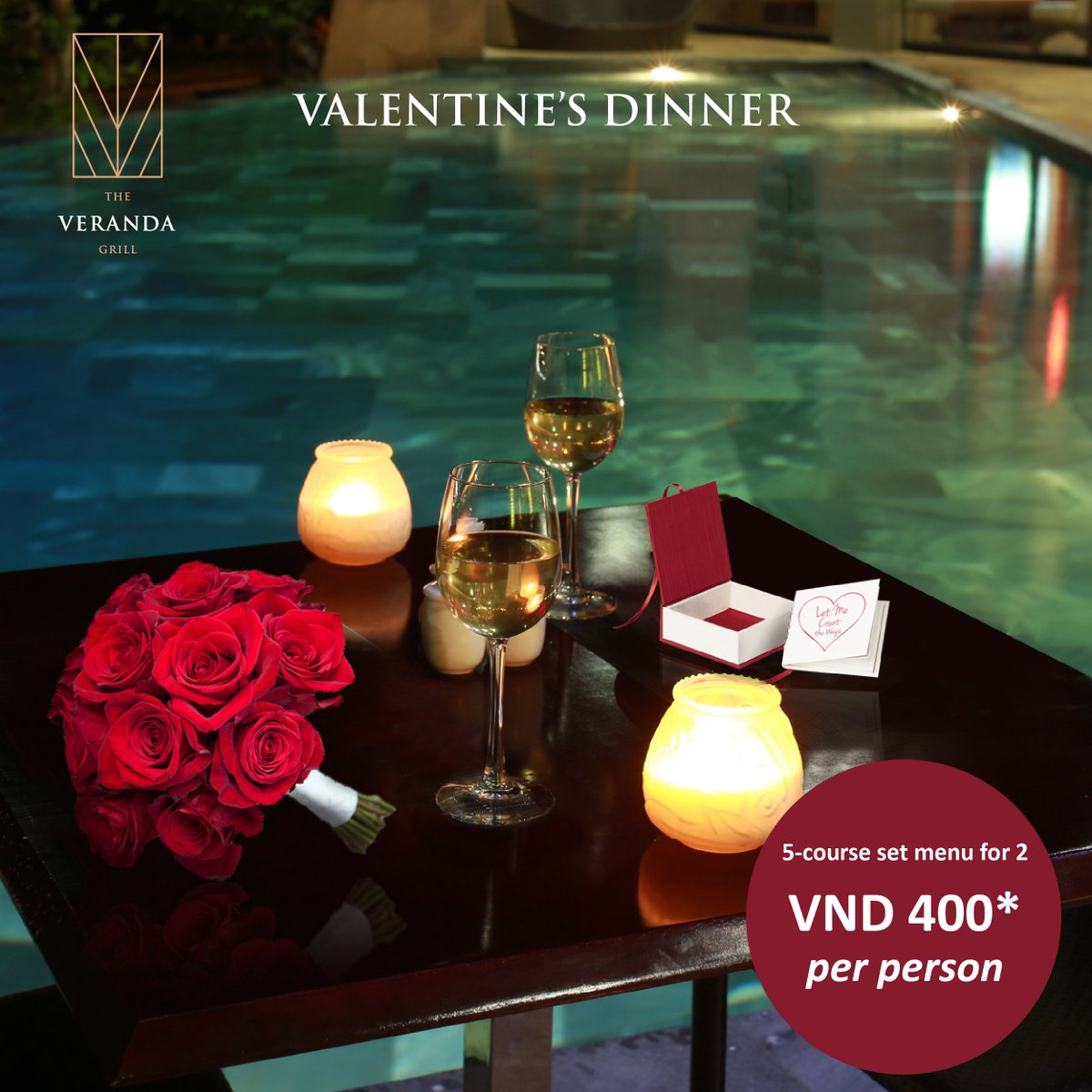#VALENTINE FEAST at The Veranda Grill Elevate your day of romance with a stylish five-course dinner at our steak house - The Veranda Grill. Loose yourself in this Valentine's Day celebration and create memories with your loved one. Book now and secure the perfect evening for two. https://t.co/gg0ENfaQSo