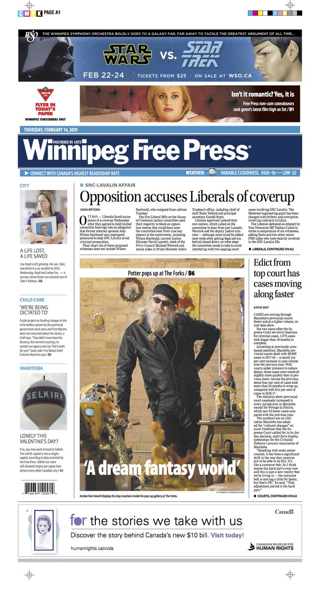 Opposition accuses Liberals of coverup on the front of Thursday's @WinnipegNews #WFP