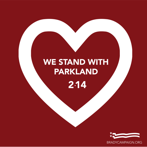 Today marks one year since 17 people were killed in a tragic and preventable act of gun violence at Marjory Stoneman Douglas High School in #Parkland.   Please join me and @bradybuzz in remembering the lives lost while committing to action. #NeverForget.