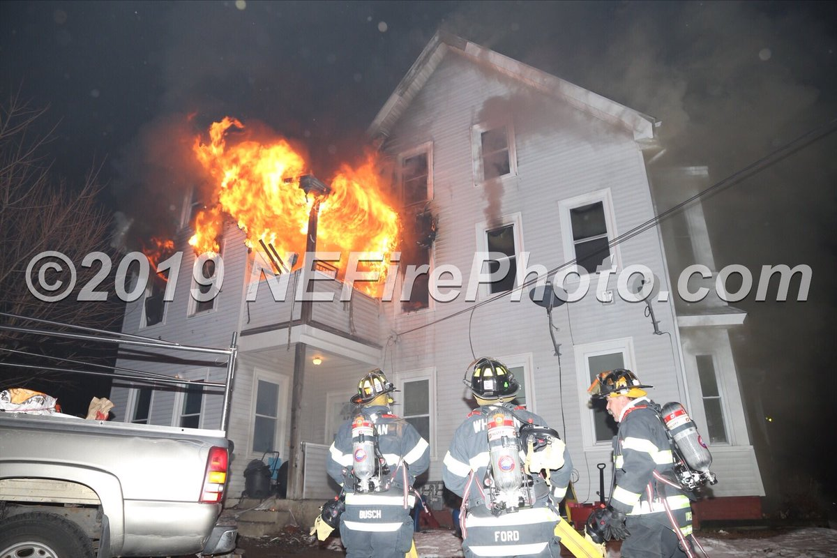 Shortly after arrival in #Whitman MA now a 3rd Alarm on Commercial Street.